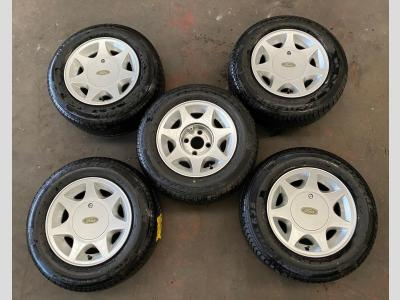 MISC PLANT 5 x FORD CAPRI WHEELS AND TYRE